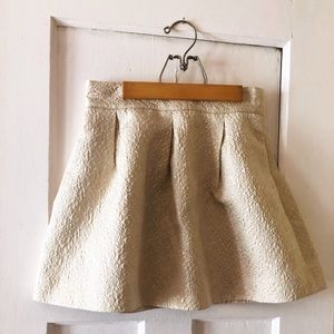 Frenchi Champagne Mini Skirt